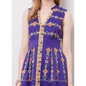 Anthropologie Maeve beaded Tunic top dress sz10